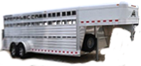 Stock trailers for sale at Jims Motors Trailers